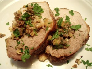 Sausage and Apple Stuffed Pork Loin