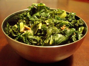 Kale with Proscuitto and Garlic