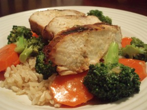 Ponzu Grilled Chicken with Stir-Fried Vegetables