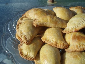 Turnip Green, Bean and Cheese Empanadas