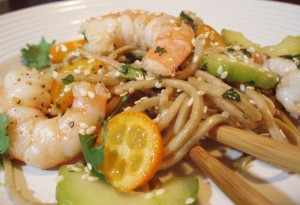 Otsu (or Fiery Lemon Ginger Soba Noodles with Shrimp)