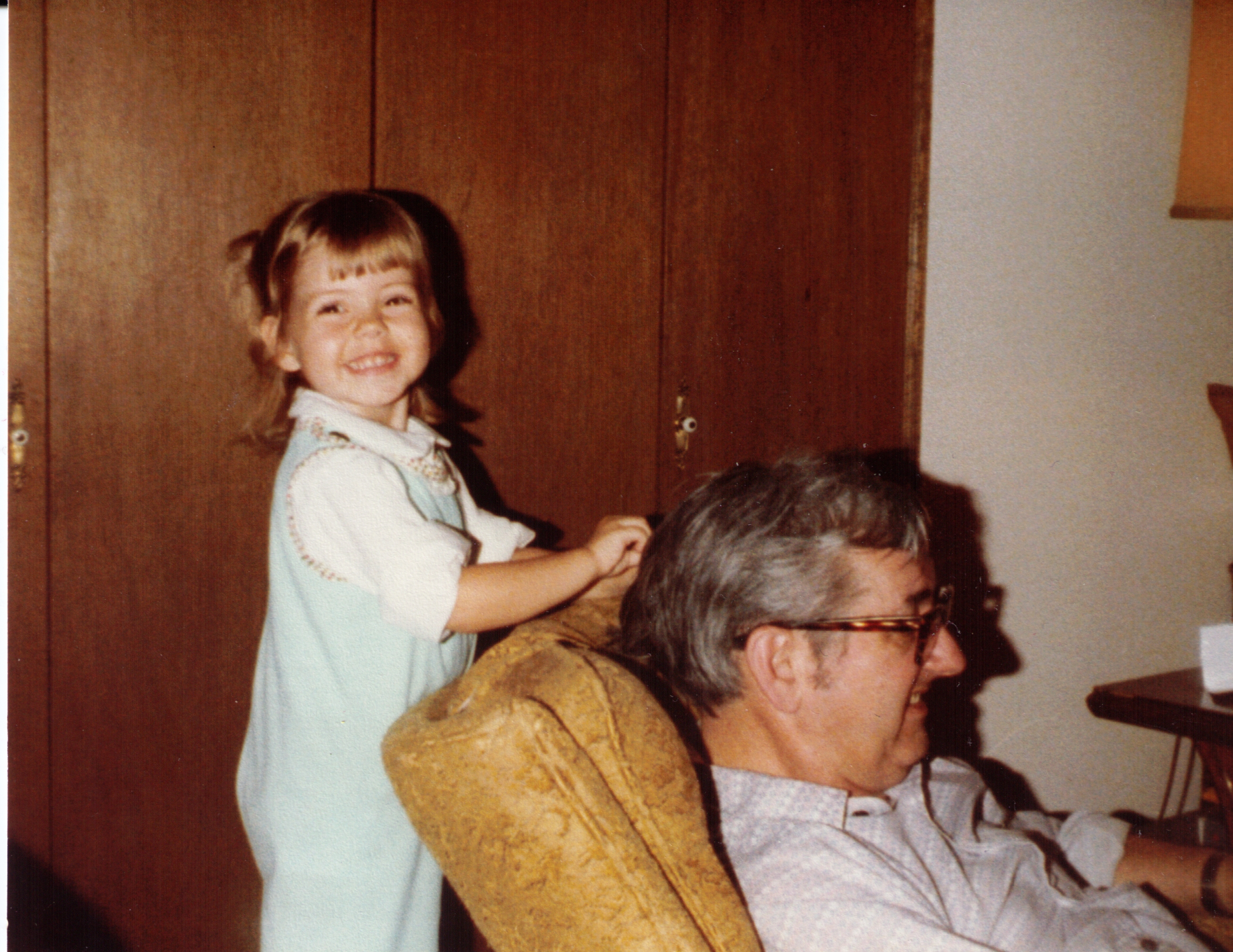 "Alta ""doing up"" Grandpa's hair"