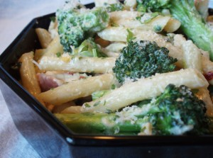 Chicken and Broccoli Penne in a Bacon Cream Sauce