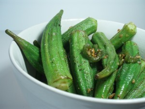 Sautéed Fresh Okra with Jalapeños