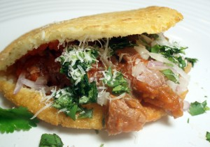 Gorditas with Shredded Beef (Gorditas con Carne Deshebrada)