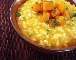 Tahitian Squash Risotto and Foodbuzz Blog Awards