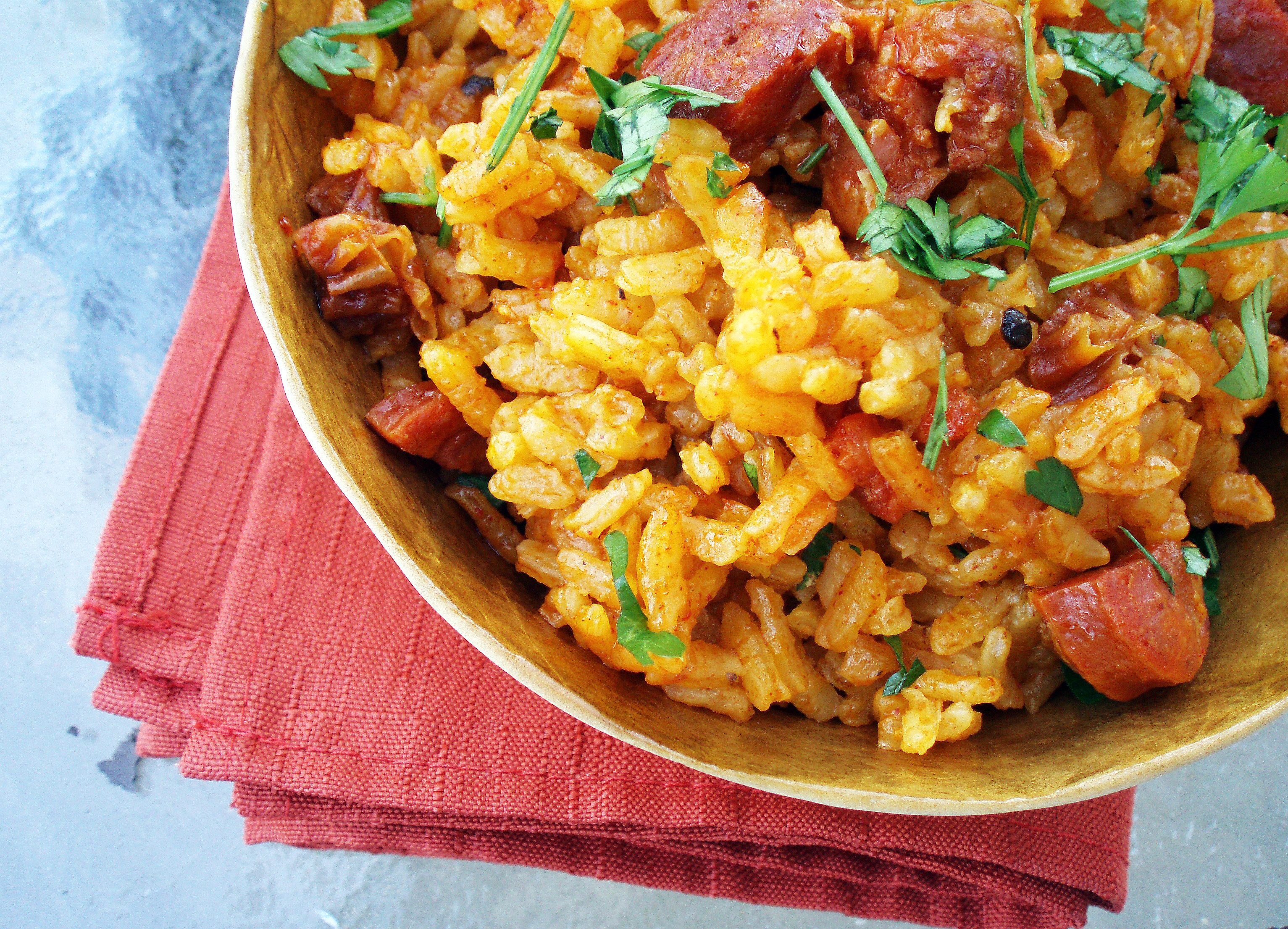 matt - spanish yellow chorizo rice