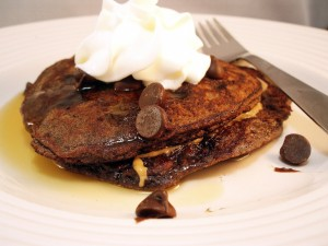 Kids in the Kitchen: Chocolate Chocolate Chip Pancakes