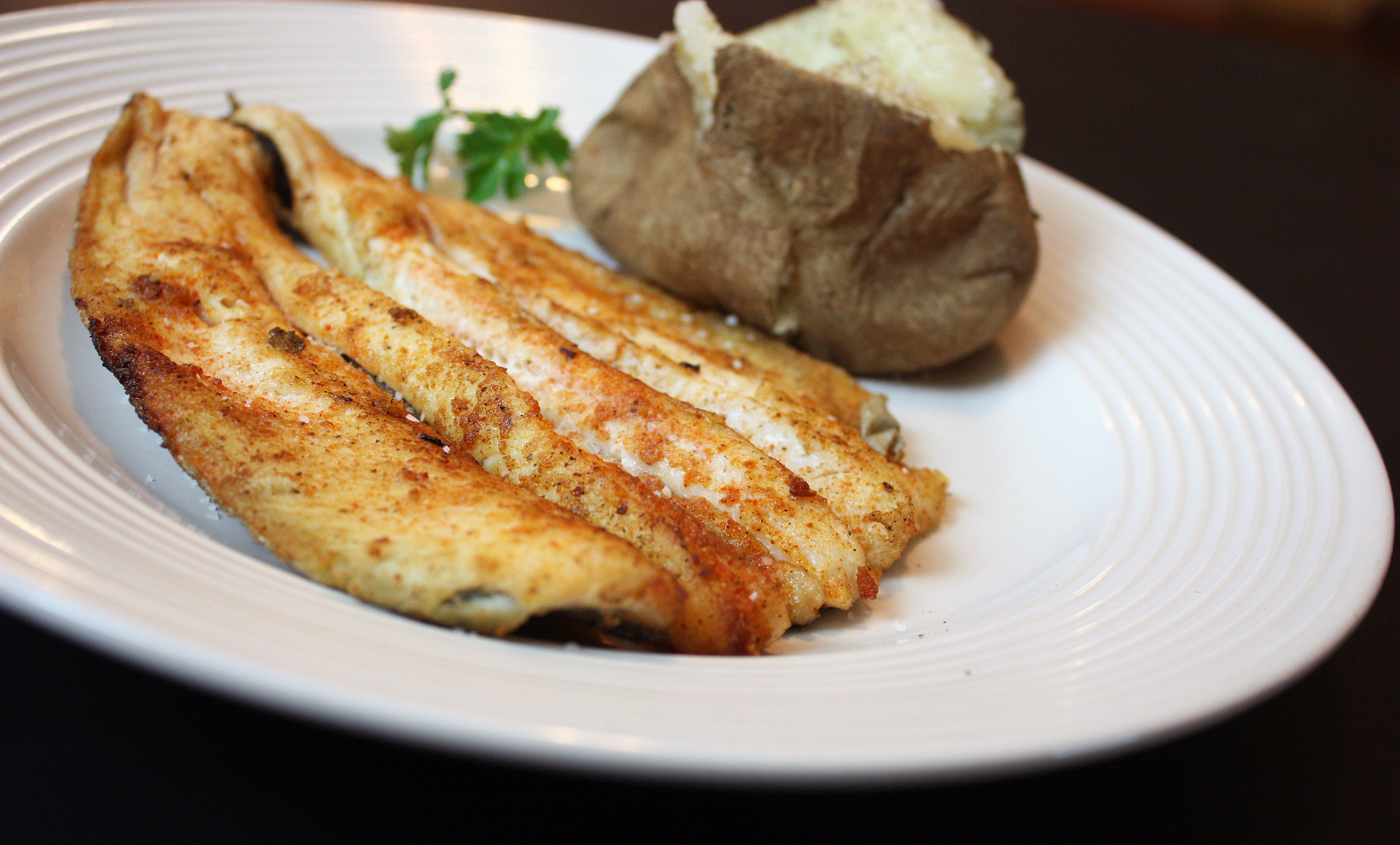 Kids in the Kitchen: Pan-Fried Trout and Baked Potatoes