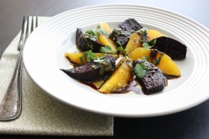 Beet and Orange Salad with Basil Vinaigrette