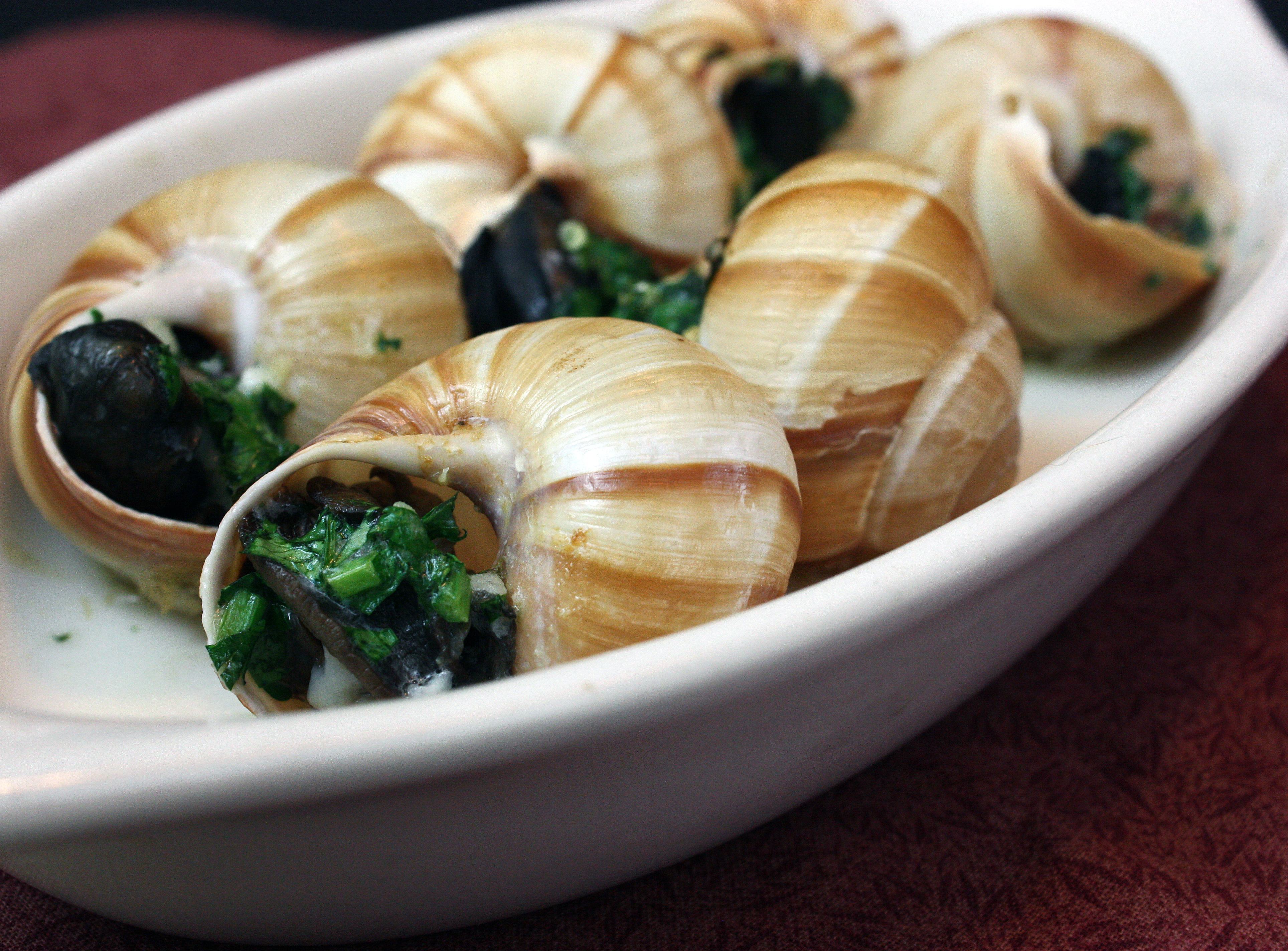 For the escargot recipe, visit Steamy Kitchen here .