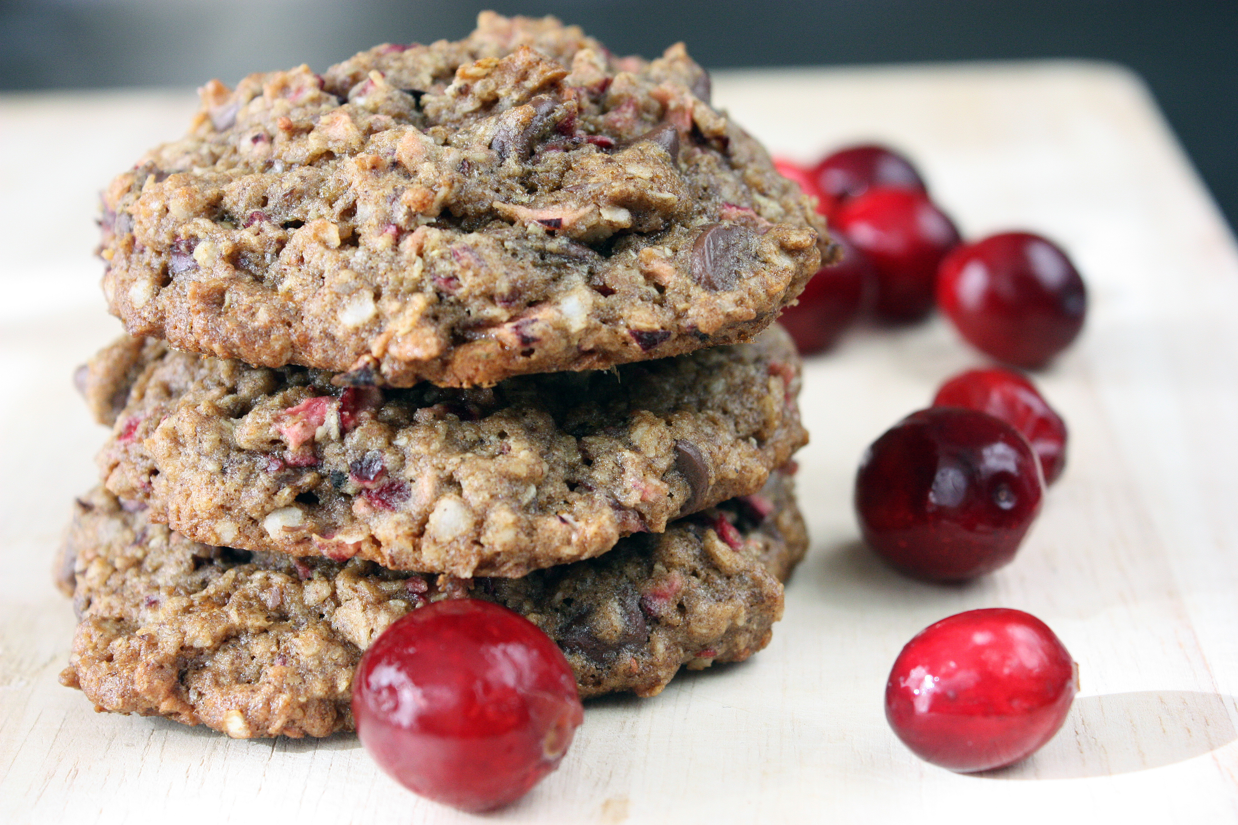 Cranberry Chocolate Chip Multi-Grain Cookies (Gluten-Free, Dairy-Free)