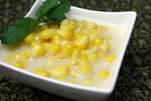 "Kids In The Kitchen: Grilled Shark Steak and Dairy-Free ""Creamed"" Corn"