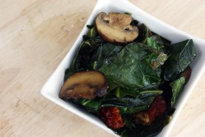 Collard Greens with Crimini Mushrooms and Smoked Sun-Dried Tomatoes (Gluten-Free and Vegan!)