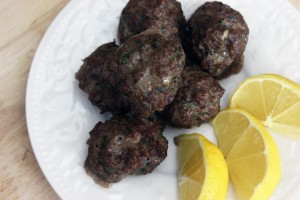 Minty Bison Meatballs