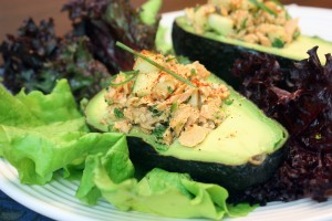 Giveaway: Pure Alaska Salmon Company (Cilantro-Lime Salmon Salad in Avocado Cups)