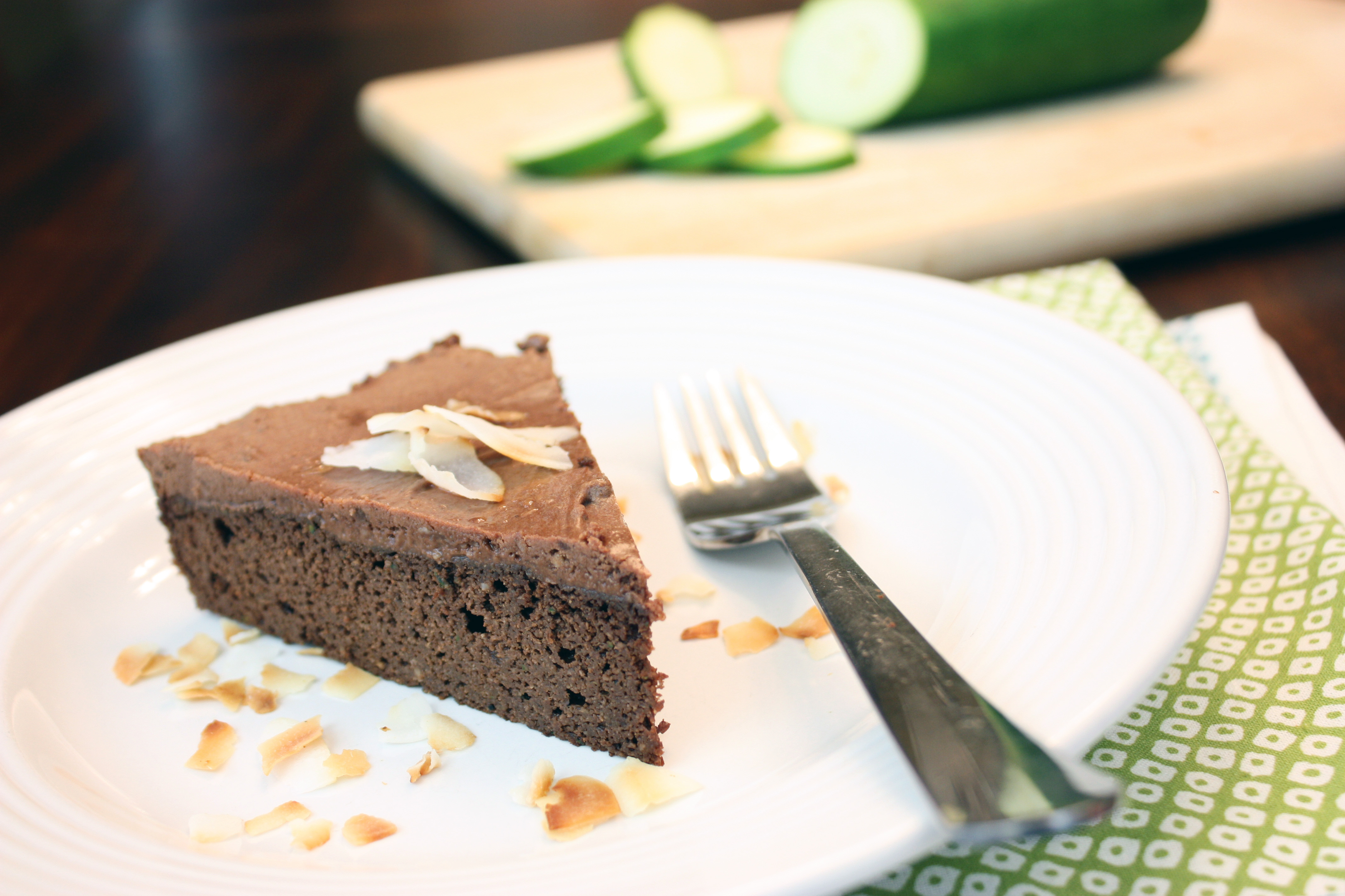 "... Zucchini Cake with Chocolate Coconut ""Buttercream"" Frosting"