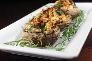Grilled Stuffed Portobello Mushrooms (Gluten-Free, Vegan)