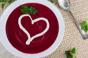 Beet and Parsnip Soup with Cashew Cream