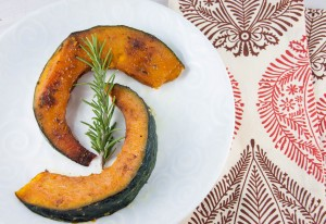 Curry-Roasted Kabocha Squash with Rosemary