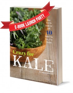 Crazy For Kale Launch Party, and a Lemony Kale Salad with Candied Black Walnuts
