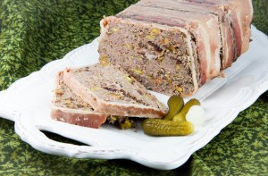 Lamb Liver and Wild Game Terrine with Pistachios and Cranberries