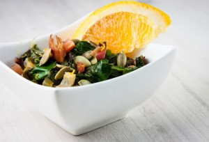 Swiss Chard with Orange and Pepitas