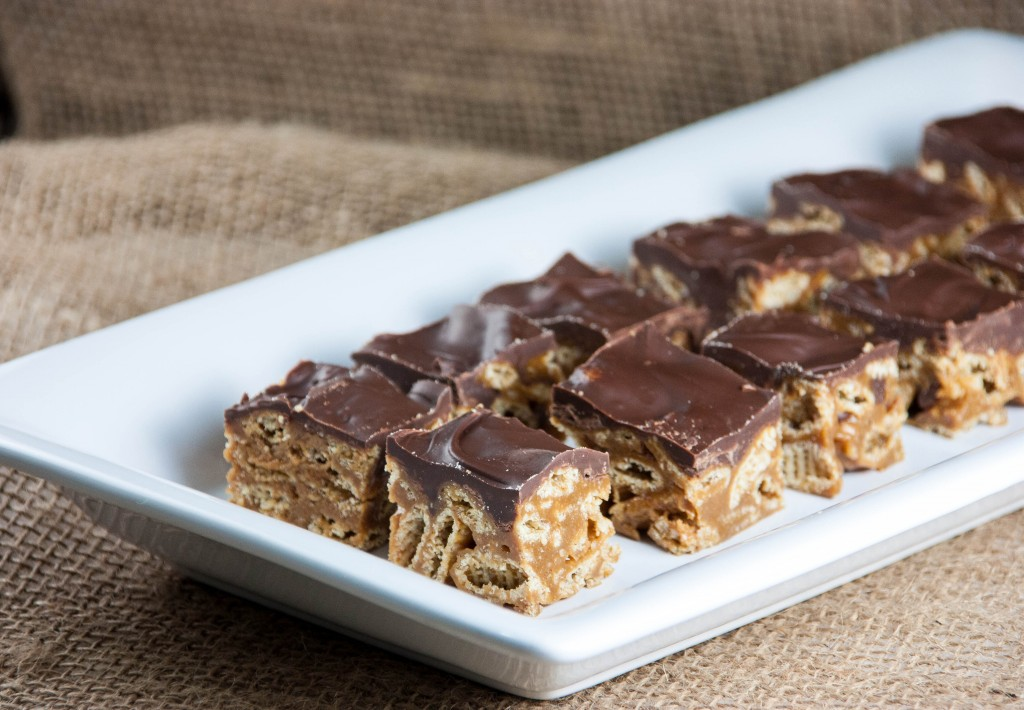 peanut butter chocolate crispy bars