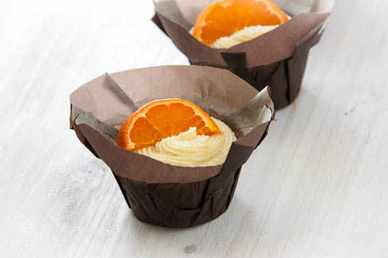 Carrot Cake Cupcakes with Clementine Mascarpone Frosting