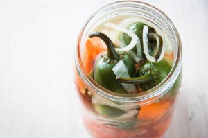 Pickled Carrots and Jalapeños