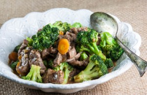 Broccoli, Carrot and Lamb Stir-Fry