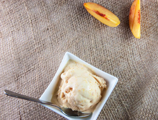 peach ice cream blog