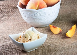 Bourbon Brown Sugar Peach Ice Cream