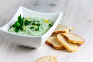 Zucchini, Mint and Lemon Yogurt Dip
