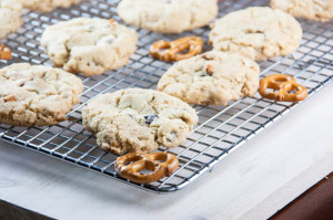 (Consolation) Chocolate and Peanut Butter Chip Pretzel Cookies