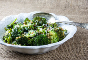 Roasted Broccoli Salad with Pine Nuts and Sun-Dried Tomatoes